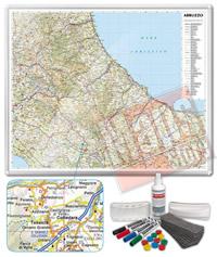 Carta Murale Magnetica Abruzzo Molise cartografia dettagliatissima