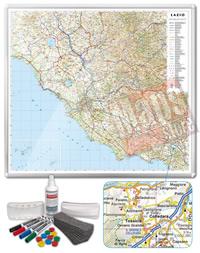 Carta Murale Magnetica del Lazio cartografia dettagliatissima aggiornata