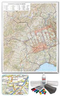 Carta Murale Magnetica del Piemonte Valle Aosta cartografia