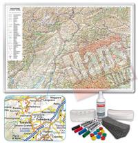 Carta Murale Magnetica del Trentino Alto Adige cartografia dettagliatissima