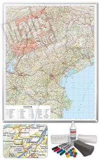 Carta Murale Magnetica del Veneto cartografia dettagliatissima aggiornata