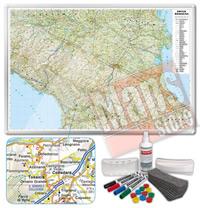 Carta Murale Magnetica dell Emilia Romagna cartografia dettagliatissima aggiornata
