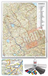 Carta Murale Magnetica dell Umbria cartografia dettagliatissima aggiornata