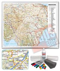 Carta Murale Magnetica della Basilicata cartografia dettagliatissima aggiornata