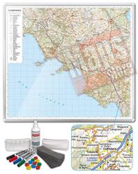 Carta Murale Magnetica della Campania cartografia dettagliatissima aggiornata