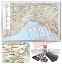 Carta Murale Magnetica della Liguria cartografia dettagliatissima aggiornata