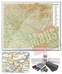 Carta Murale Magnetica della Lombardia cartografia dettagliatissima aggiornata