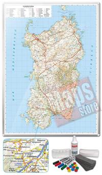 Carta Murale Magnetica della Sardegna cartografia dettagliatissima aggiornata