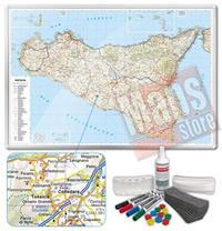 Carta Murale Magnetica della Sicilia cartografia dettagliatissima aggiornata