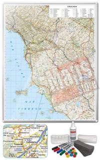 Carta Murale Magnetica della Toscana cartografia dettagliatissima aggiornata