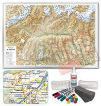 Carta Murale Magnetica della Valle Aosta cartografia dettagliatissima