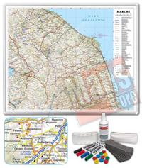 Carta Murale Magnetica delle Marche cartografia dettagliatissima aggiornata