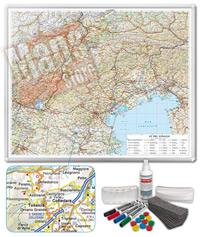 Carta Murale Magnetica delle Tre Venezie cartografia dettagliatissima aggiornata