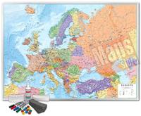 Carta Murale Magnetica Europa cartografia fisica politica dettagliatissima