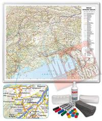 Carta Murale Magnetica Friuli Venezia Giulia cartografia dettagliatissima