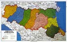 Emilia Romagna Fisico politica con aste