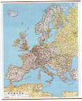 Europa Stradale Plastificata con Aste