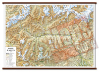 Valle Aosta carta murale plastificata con eleganti aste