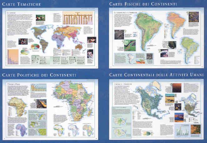 immagine di atlante geografico atlante geografico Atlante Illustrato del Mondo