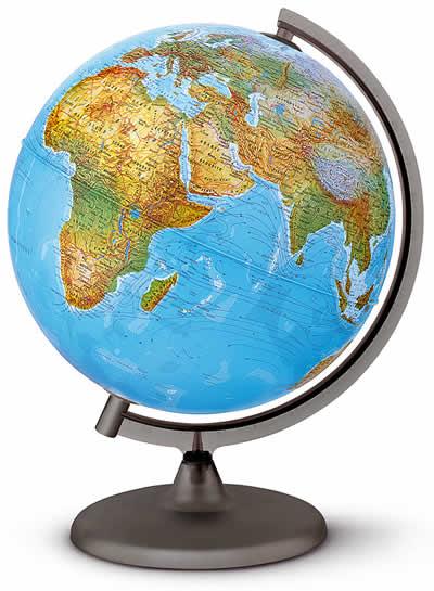 immagine di globo geografico globo geografico Globo Luminoso Fisico e Politico - diametro 20 cm
