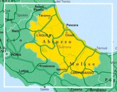 Cartina Molise Geografica.Mappa Stradale Regionale Abruzzo E Molise