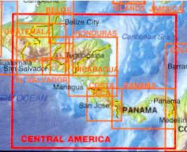 immagine di mappa stradale mappa stradale America Centrale / Central America