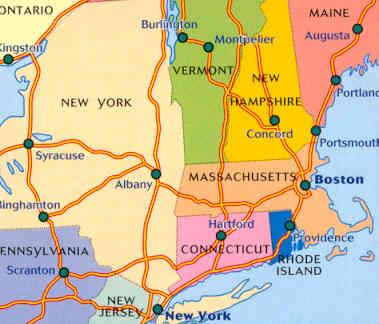 Cartina America New York.Mappa Stradale N 581 America Del Nord New England Hudson Valley New York Massachusetts Vermont Connecticut Rhode Island