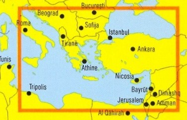 immagine di mappa stradale mappa stradale Asia Minore - con Israele, Libano, Giordania, Siria - edizione 2013