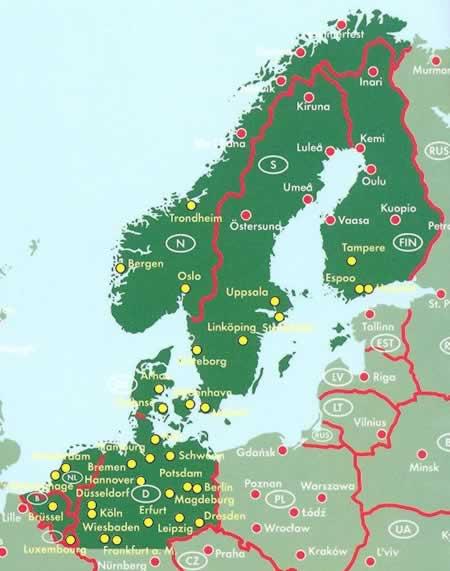 immagine di atlante stradale atlante stradale Atlante Stradale a Spirale della Scandinavia - con Danimarca, Norvegia, Svezia, Finlandia, Olanda, Belgio, Lussemburgo e Nord della Germania - nuova edizione