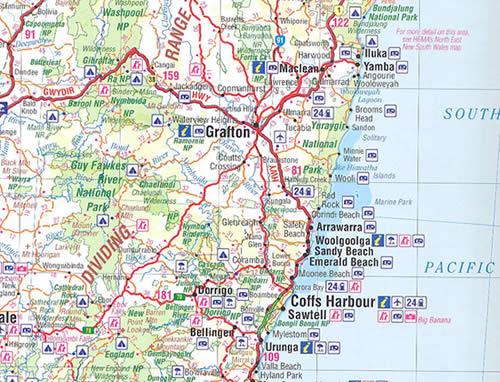 immagine di atlante stradale atlante stradale Australia - Atlante Stradale - con mappe per il fuoristrada e posizioni GPS