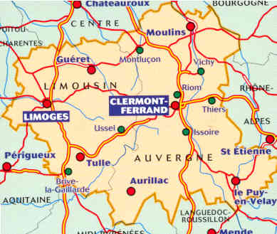 Mappa Stradale Regionale 522 Auvergne Limousin Regione Della