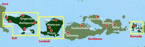 Cartina Bali Indonesia.Mappa Stradale Bali Lombok Komodo Negara Gilimanuk Singaraja Amlapura Denpasar Bayan Mataram Praya Loh Liang Con Spiagge Luoghi Panoramici Parchi E Riserve Naturali
