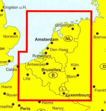 immagine di mappa stradale mappa stradale Belgio, Olanda Lussemburgo - edizione 2013
