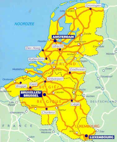 immagine di mappa stradale mappa stradale n.714 - Benelux