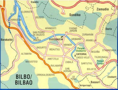 immagine di mappa di città mappa di città n.77 - Bilbo / Bilbao