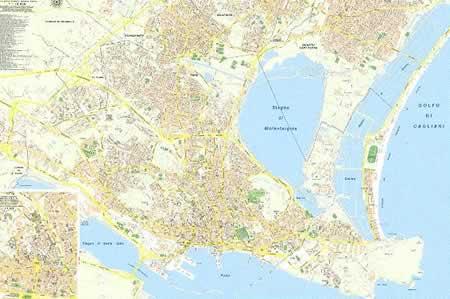 Cartina Geografica Di Cagliari.Mappa Di Citta Cagliari Mappa Di Citta