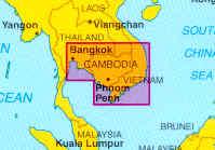 immagine di mappa stradale mappa stradale Cambogia / Cambodia e Angkor