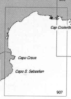 immagine di carta nautica carta nautica 907 INT 3116 - Da Capo de San Sebastian a Fos-Sur-Mer