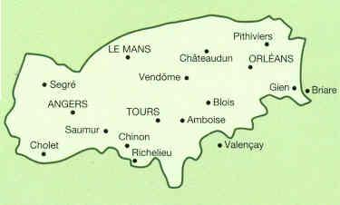 Cartina Geografica Della Loira Francia.Guida Turistica Castelli Della Loira