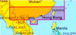 immagine di mappa stradale mappa stradale n. 4 - China / Cina del Sud - con Hong Kong