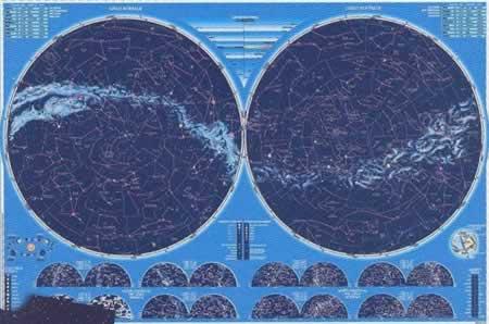 immagine di mappa del cielo mappa del cielo Il Cielo - mappa astronomica con le mappe stagionali e informazioni sulle stelle - nuova edizione