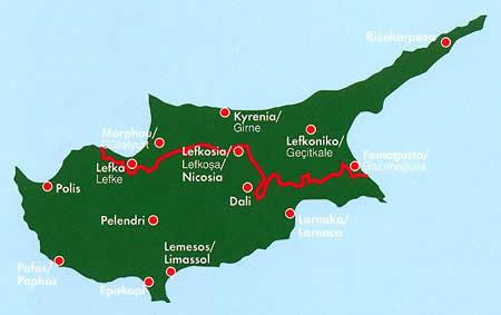 immagine di mappa stradale mappa stradale Cipro