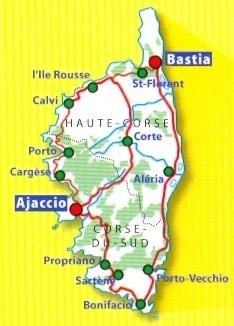 immagine di mappa stradale mappa stradale n.345 - Corsica - nuova edizione