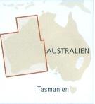 immagine di mappa stradale mappa stradale Costa Ovest dell'Australia - con Perth, Great Victoria Desert, Nullarbor Plain, Pilbara, Hamersley Range, Gibson Desert, Great Sandy Desert, Broome, Kimberley Plateau - con parchi, riserve naturali, spiagge e luoghi panoramici - mappa stradale, impermeabile e antistrappo - edizione 2019
