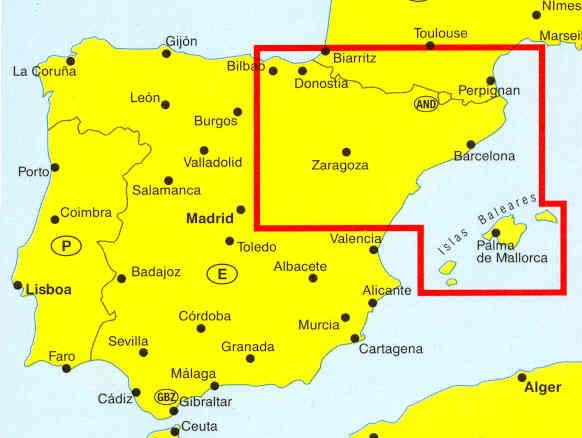 Cartina Spagna Catalogna.Mappa Stradale Costa Brava Catalogna Navarra Aragona Pirenei Paesi Baschi