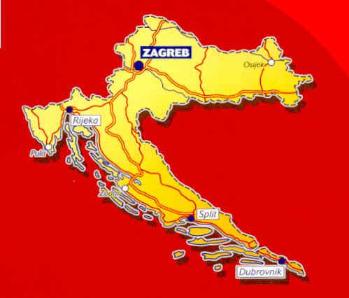 immagine di mappa stradale mappa stradale n.757 - Croazia