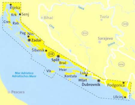 Dalmazia Cartina Geografica.Mappa Topografica N 2900 Croazia E Costa Della Dalmazia Rijeka