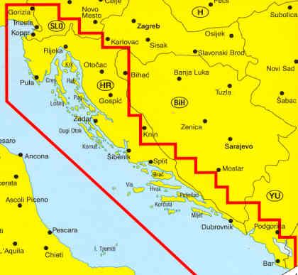 Dalmazia Cartina Geografica.Atlante Stradale Dalmazia Istria Dal Golfo Di Trieste Al