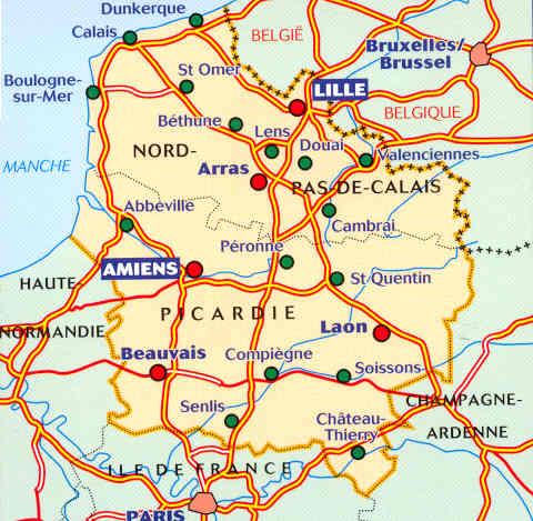 Cartina Nord Francia.Mappa Stradale Regionale 511 Nord Pas De Calais Picardie