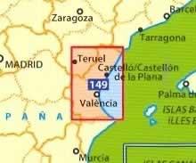 immagine di mappa stradale mappa stradale n.149 - dintorni di Valencia e Costa del Azahar - con castello de la Plana, Teruel